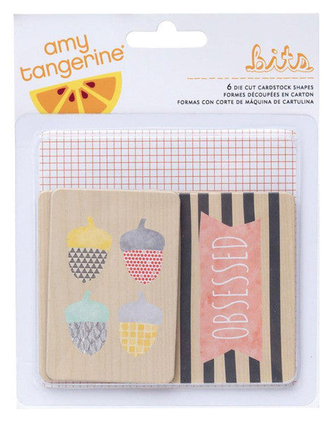 Amy Tangerine - Stitched - Die Cut Chipboard Shapes