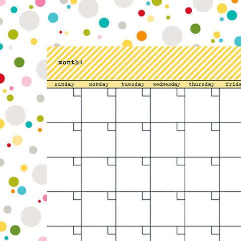 Bella Blvd - Calendar Collection - 12 x 12 Double Sided Paper