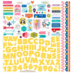 Bella Blvd - Popsicles & Pandas 12 x 12 Sticker Sheet