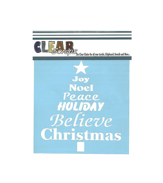 Clear Scraps - Christmas - Word Xmas Tree