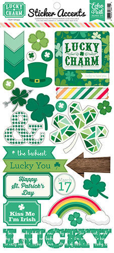 Echo Park Lucky Charm Sticker Accent Sheet