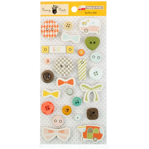 Fancy Pants Designs - Happy Go Lucky - Button Set