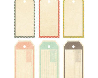 Fancy Pants Designs - Happy Go Lucky - Large Tags