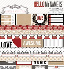 Teresa Collins - Hello My Name Is - 6x6 double-sided paper pack (24 sheets)