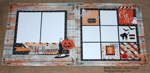 Happy Halloween 2016 Two Page Layout Kit