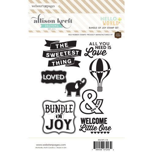 Webster's Pages Hello World Stamp Set 1