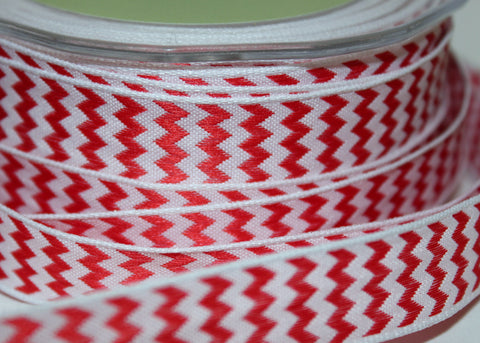 Woven Chevron Stripe Wired Ribbon
