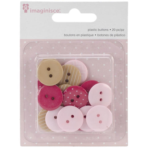 Imaginisce - My Baby Girl Buttons 20/Pkg