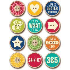 Jillibean Soup -Wooden Nickels Printed Buttons