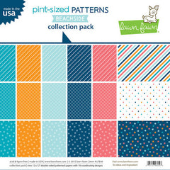 Lawn Fawn Beachside Collection - Pint-Sized patterns 12 x 12 Cardstock
