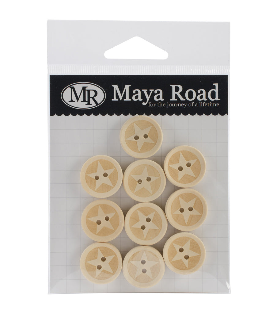 Maya Road Lucky Star Wood Buttons