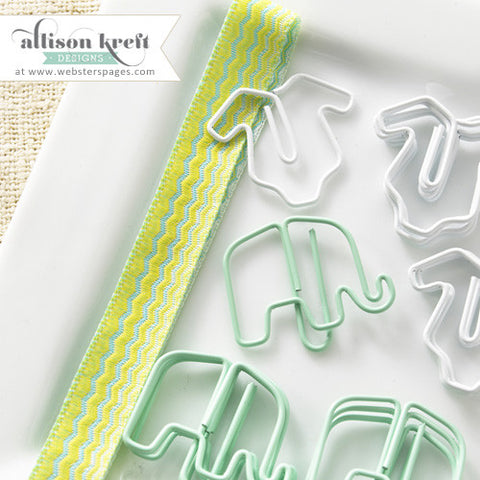 Webster's Pages Hello World Elephant Paper Clips
