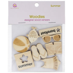 Queen & Co -Summer Woodies Laser Cut Shapes 6/Pkg