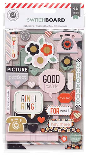 Switchboard Chipboard Stickers by Pink Paislee