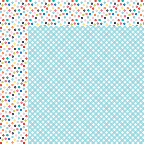 Bella Blvd - Popsicles & Pandas Collection - Picnic - 12 x 12 Double-Sided Cardstock