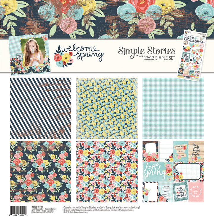 Simple Stories - Welcome Spring 12 x 12 Simple Set