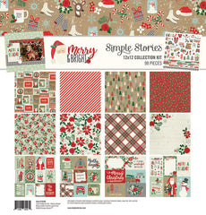 Simple Stories - Merry and Bright Christmas Collection - 12 x 12 Collection Kit