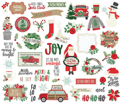 Simple Stories - Merry and Bright Christmas Collection - Bits and Pieces