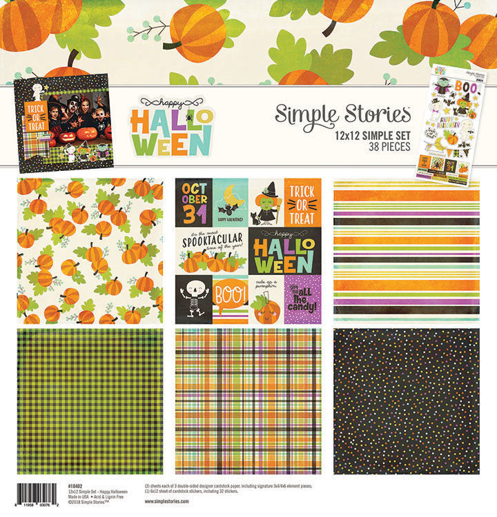 Simple Stories - Happy Halloween 12 x 12 Simple Set