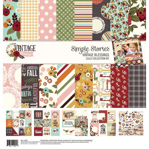Simple Stories - Vintage Blessings - 12 x 12 Collection Kit