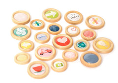 American Crafts Shimelle True Stories Wood Buttons
