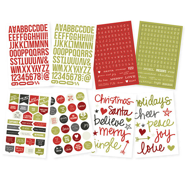 Simple Stories DIY Christmas Letters/Words Stickers