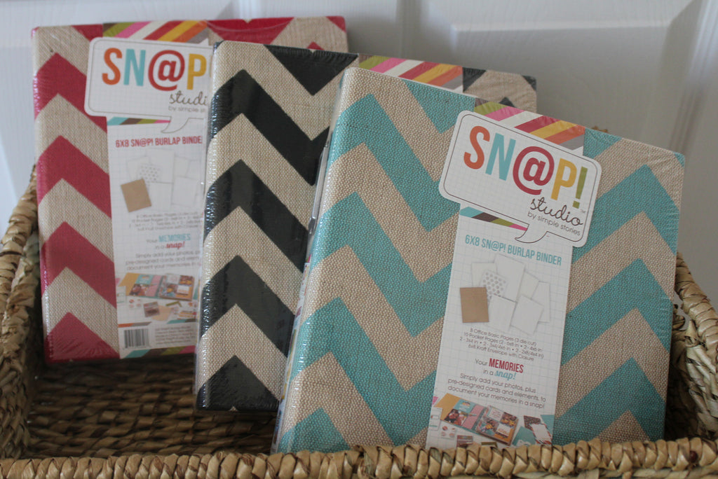 Simple Stories SNAP Burlap  6 x 8 Binder Album