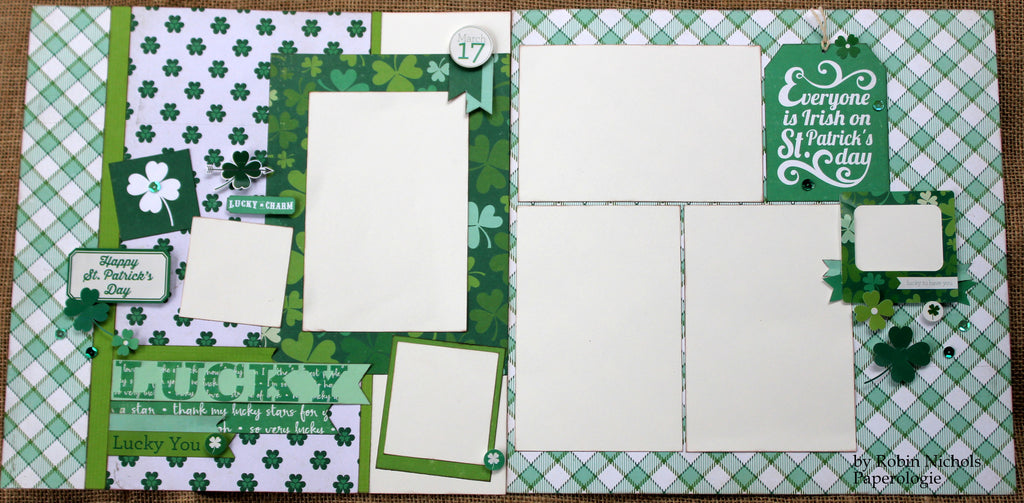 St Patrick's Day 12 x 12 Double-Page Layout