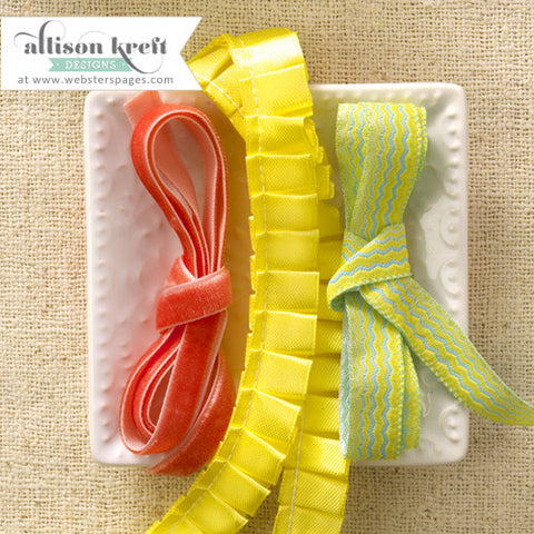 Webster's Pages Hello World Ribbon Trim