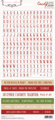 Teresa Collins - Candy Cane Lane Alpha/Words Stickers