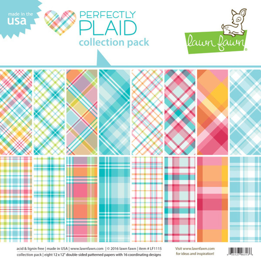 Lawn Fawn Perfectly Plaid Collection Pack