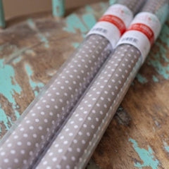 Hazel & Ruby Polka Dot Tissue Paper Roll -Gray White Polka
