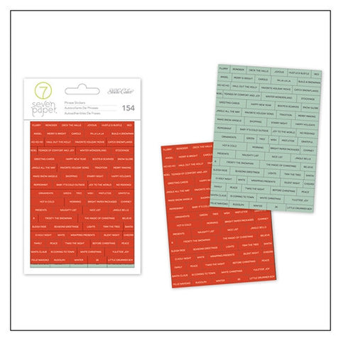 Studio Calico Phrase Stickers - Seven Paper Felix Collectioin