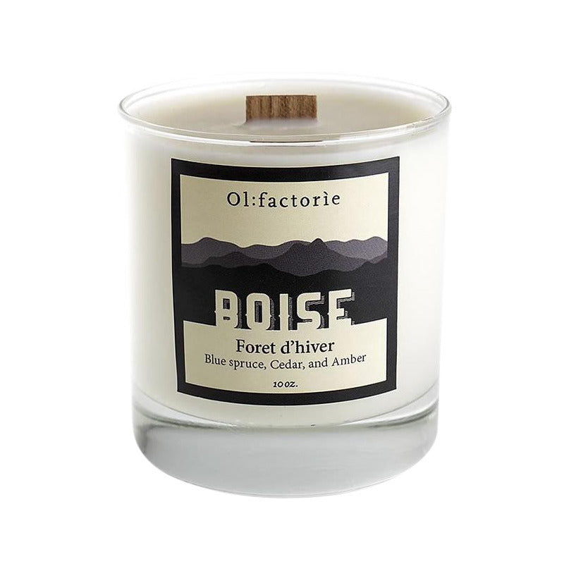 "Boise ""Foret D'hiver"" Candle 10 oz - Olfactorie Candles"