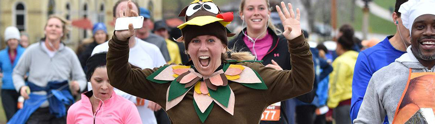People participating in a Turkey Trot