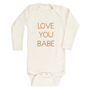Love You Babe Long Sleeve Bodysuit - Little Adi + Co.