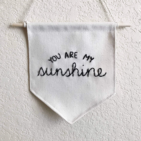 You Are My Sunshine Wall Banner - Little Adi + Co.