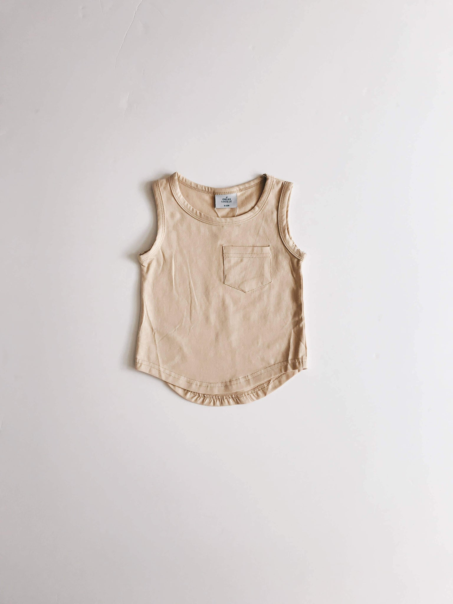 Pocket Tank Top - Sand - Little Adi + Co.