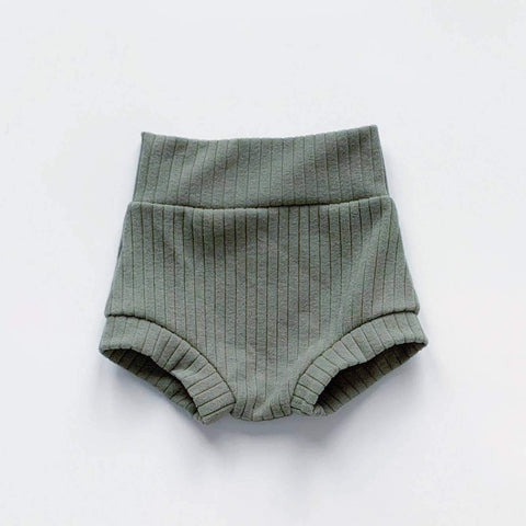 Bohemian Babies - High Waisted Shorties: Eucalyptus - Little Adi + Co.