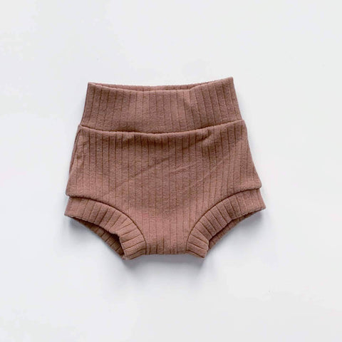 Bohemian Babies - High Waisted Shorties: Dusty Rose - Little Adi + Co.