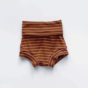 Bohemian Babies - Fold Over Shorties: Acorn - Little Adi + Co.