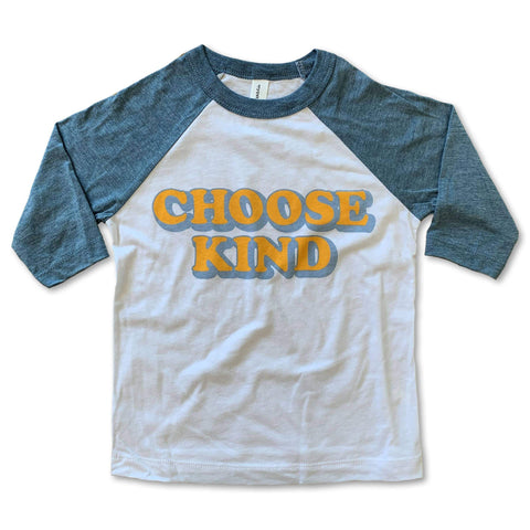 Choose Kind Baseball Tee - Little Adi + Co.
