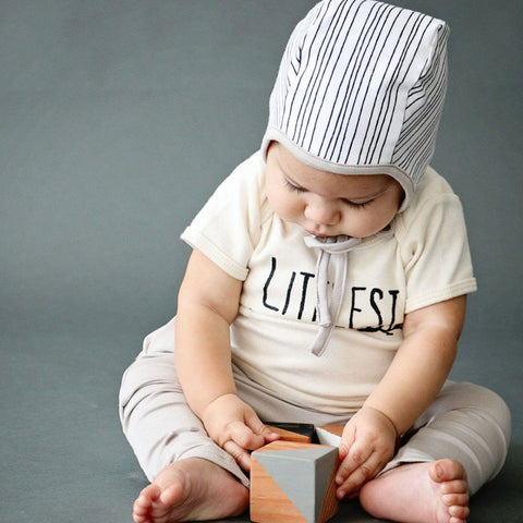 Infant Bonnet - Organic Stripe
