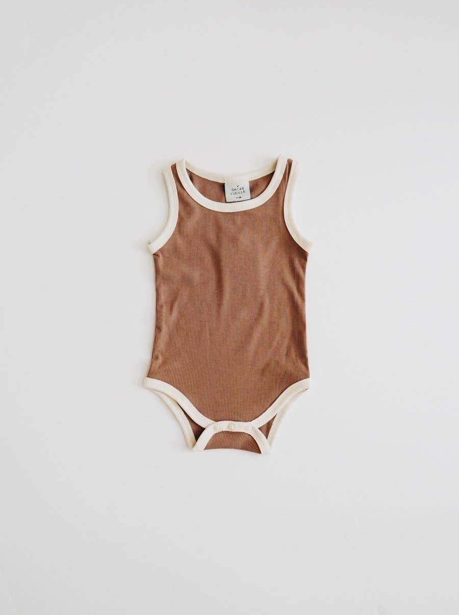 Orcas Lucille - Ribbed Bodysuit - Chocolate