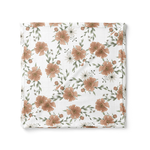 Mini Scout - Peony Blooms Swaddle - Little Adi + Co.