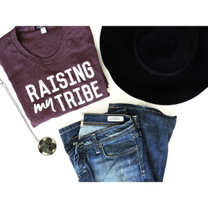 "Adult ""Tribe"" Heather Plum Tee"