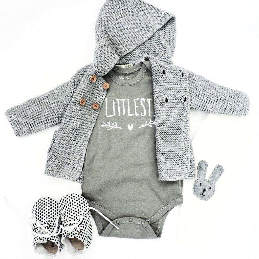"Infant ""Littlest"" Onesie - Heather Grey"