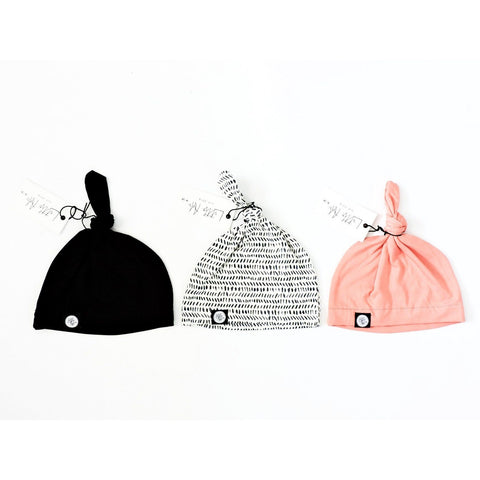 Infant Knot Beanie - Black