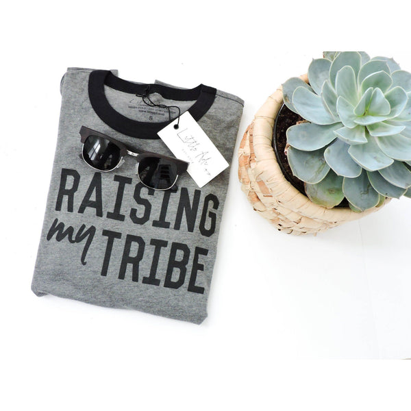 "Adult ""Tribe"" Ringer Tee - Little Adi + Co."