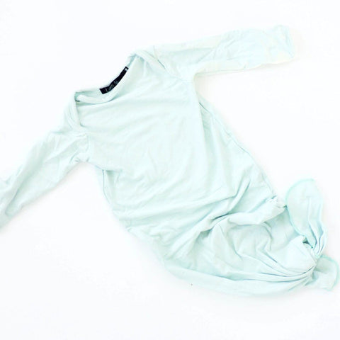 Newborn Knot Gown - Mint